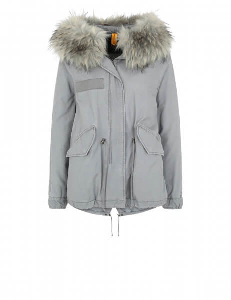 Blonde No.8 Damen Kunstfell Parka Zürs 316 Smoke Blue Light Blue