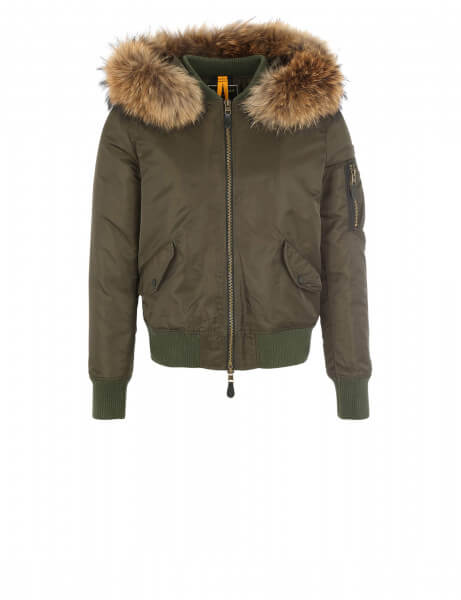 Blonde No.8 ROCCA 515 • Echtfell Jacke • Night Green