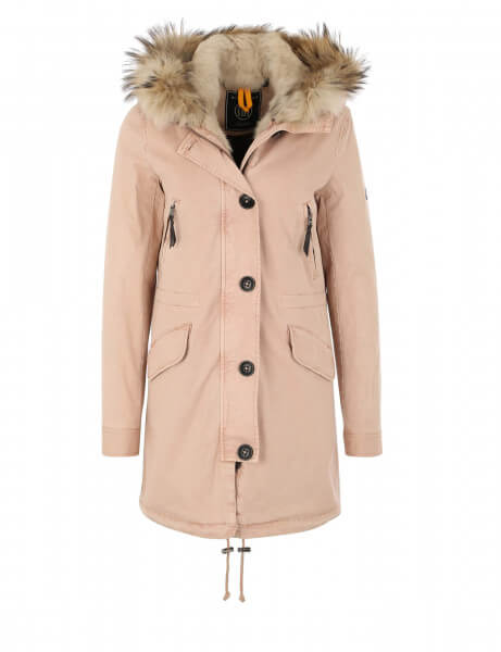 blonde no 8 damen echtfell parka aspen 515 ltd rose taupe. Black Bedroom Furniture Sets. Home Design Ideas