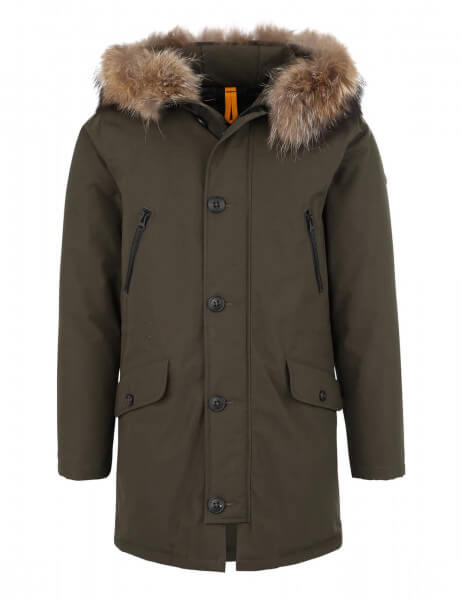 SAS VEE 515 • Echtfell Daunenparka • Night Green