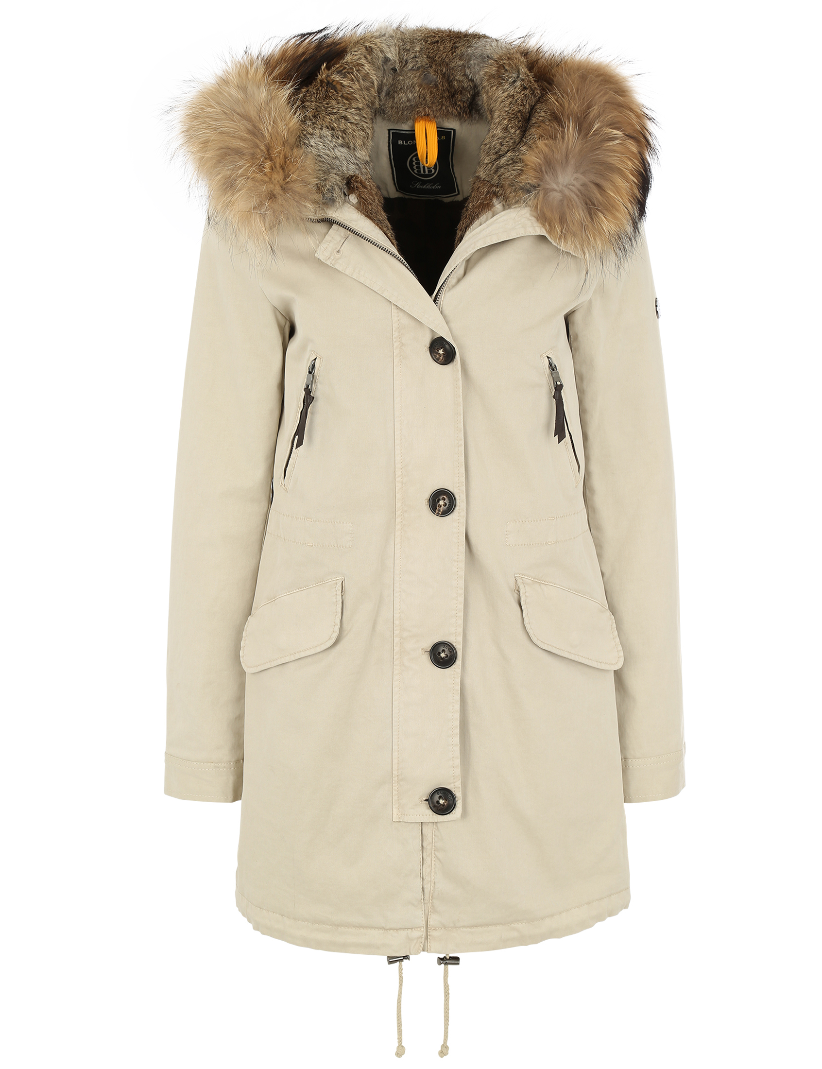 blonde no 8 damen echtfell parka aspen 515 feather beige. Black Bedroom Furniture Sets. Home Design Ideas
