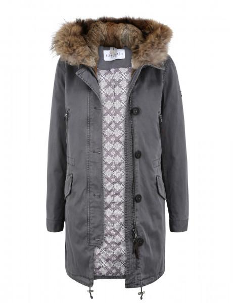 ASPEN 515 • Echtfell Winterparka • Fog Grey
