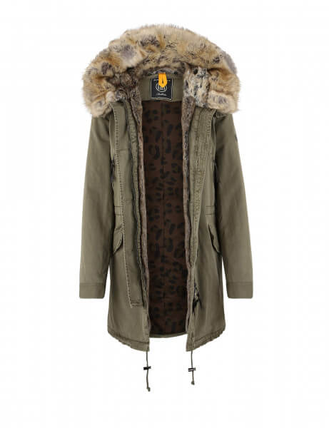 CREEK 315 • Kunstfell Parka • Blonde Kaki