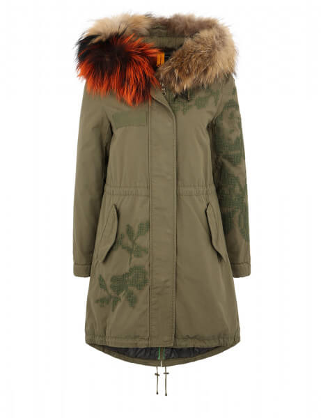 WINDSOR E 515 • Echtfell Parka • New Kaki / Nature Rust
