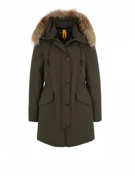 blonde no 8 damen echtfell parka polar 515 night green. Black Bedroom Furniture Sets. Home Design Ideas