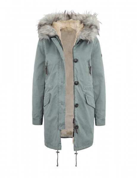 CREEK 316 NP • Kunstfell Parka • Desert / Light Blue