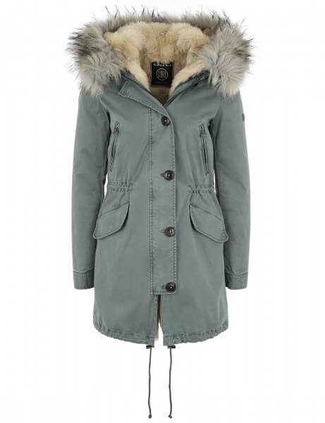 Blonde No.8 Damen Kunstfell Parka Creek 316 Desert Light Blue