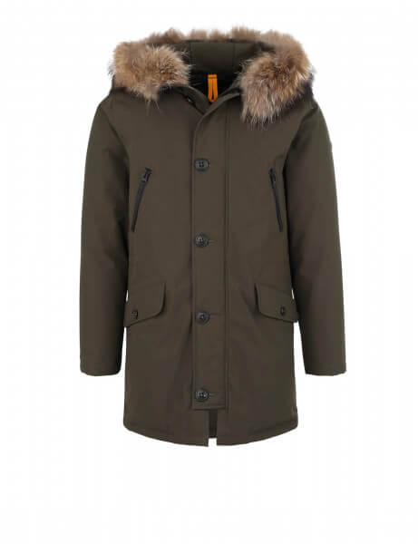 SAS VEE 515 • Echtfell Parka • Night Green