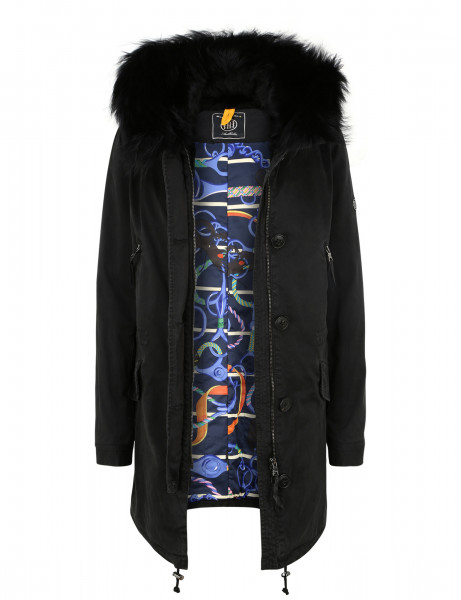 ASPEN LTD 515 • Echtfell Winterparka • Black DTM