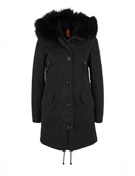 blonde no 8 damen echtfell parka aspen 415 black dtm. Black Bedroom Furniture Sets. Home Design Ideas