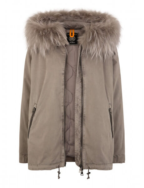 RENNES 515 • Echtfell Jacke • Light Grey DTM