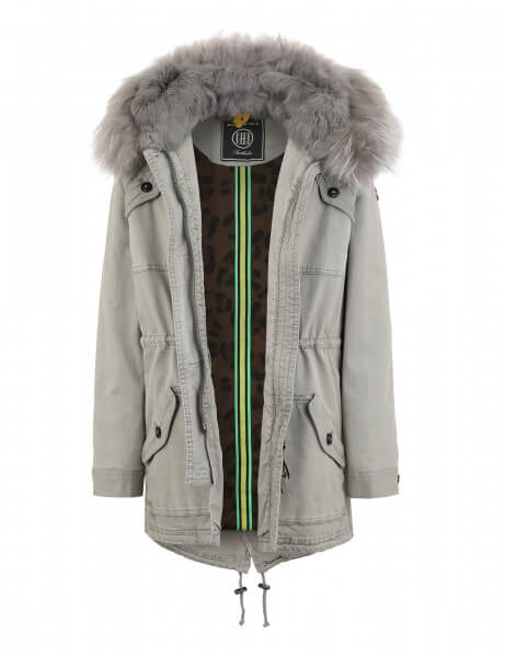 GSTAAD Kids 515 • Echtfell Parka • Light Grey DTM