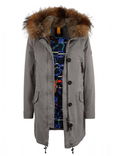 ASPEN 515 • Echtfell Winterparka • Light Grey SPL