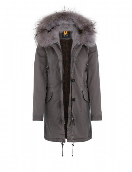 ASPEN 515 LTD • Echtfell Parka • Frost Grey DTM