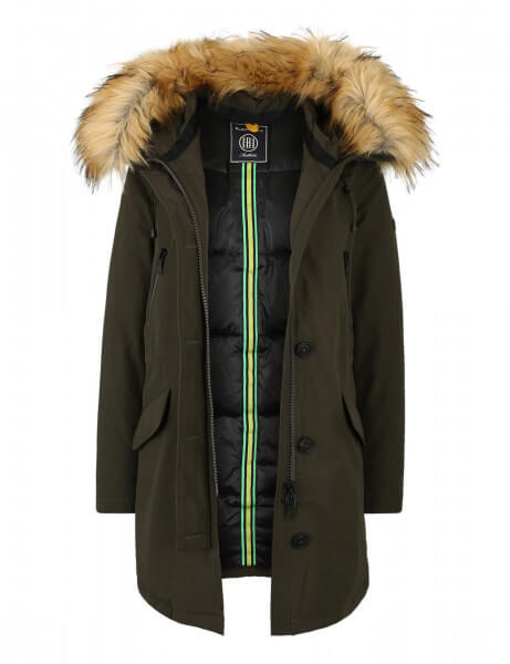 POLAR 316 • Kunstfell Daunenparka • Night Green