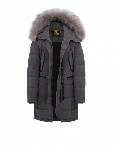 LECH 515 • Echtfell Daunenparka • Frost Grey DTM