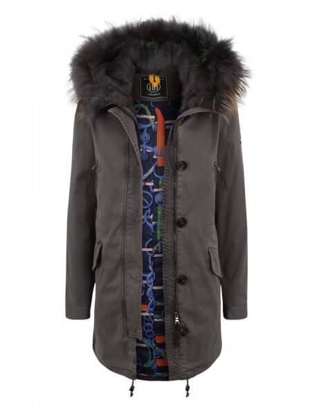 ASPEN LTD 515 • Echtfell Parka • Frost Grey DTM