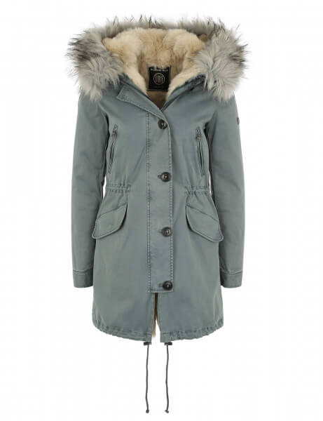 CREEK 316 • Kunstfell Parka • Desert / Light Blue