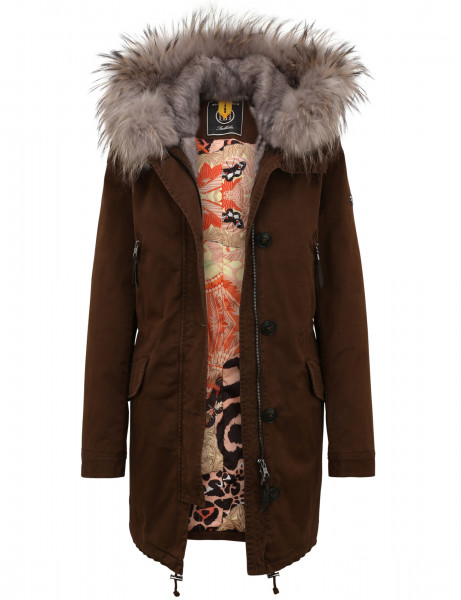 ASPEN LTD 515 • Echtfell Winterparka • Apple Tree / Sand Beige