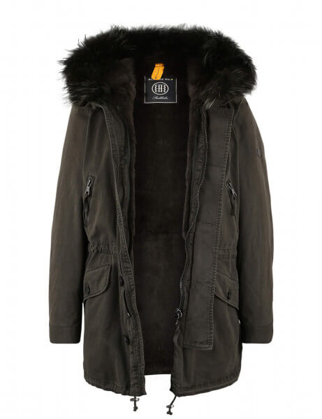ST MORITZ 415 • Vollfell Parka • Night Green DTM