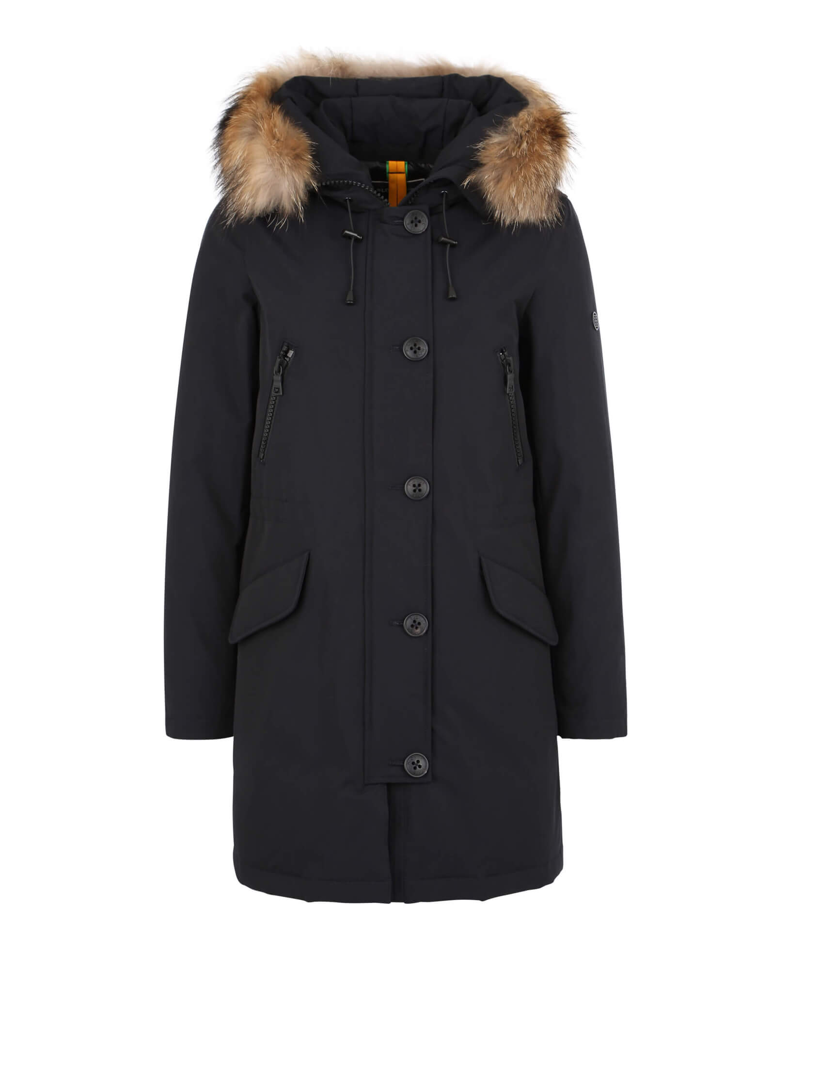 blonde no 8 damen echtfell parka polar 515 navy parka. Black Bedroom Furniture Sets. Home Design Ideas