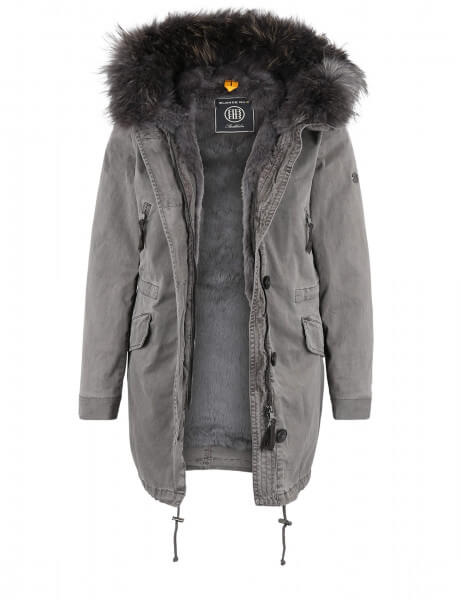 ASPEN 415 • Echtfell Parka • Frost Grey DTM