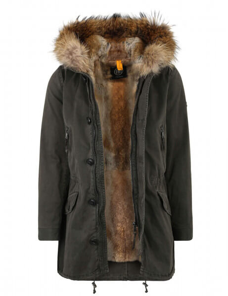ST MORITZ 415 • Vollfell Parka • Night Green