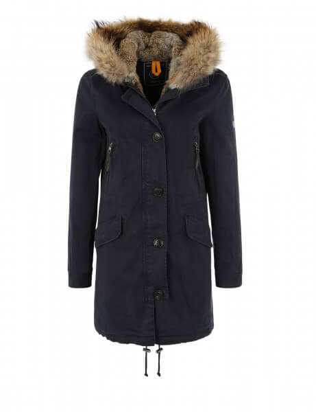 aspen 515 echtfell parka navy parka damen blonde. Black Bedroom Furniture Sets. Home Design Ideas