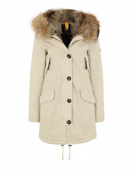 Blonde No.8 Damen Echtfell Parka Aspen 515 Feather Beige