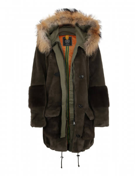 CLODE 515 • Echt- & Kunstfell Parka • Night Green