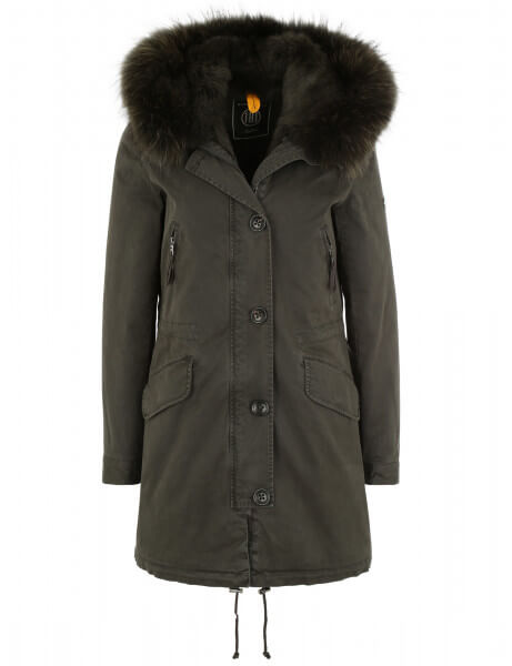 Blonde No.8 Damen Echtfell Parka Aspen 515 LTD Night Green DTM