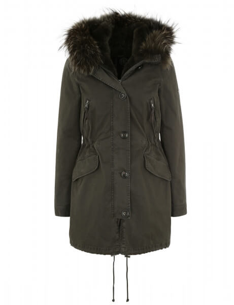 Blonde No.8 Damen Echtfell Parka Aspen 415 Night Green DTM