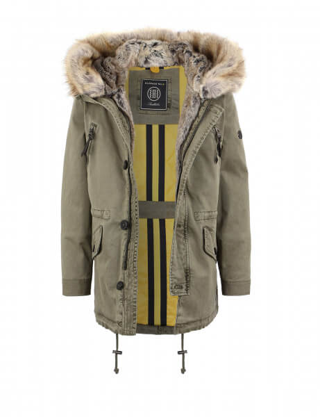 CREEK Kids 315 • Kunstfell Parka • Blonde Kaki