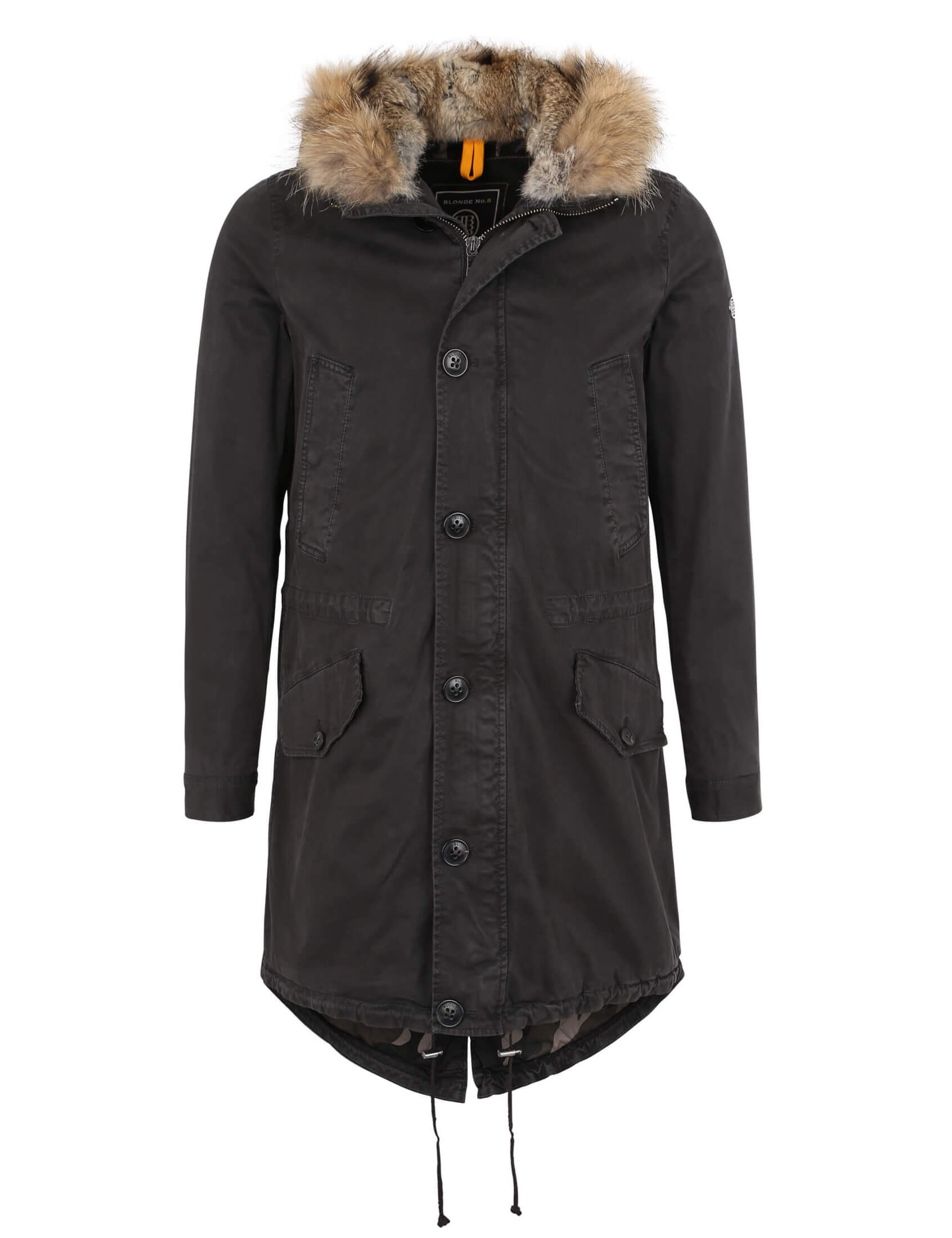 blonde no 8 herren echtfell parka zermatt 515 grafit. Black Bedroom Furniture Sets. Home Design Ideas