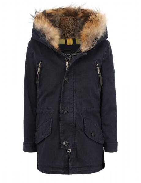 Blonde No.8 Kinder Echtfell Parka Aspen 515 Navy