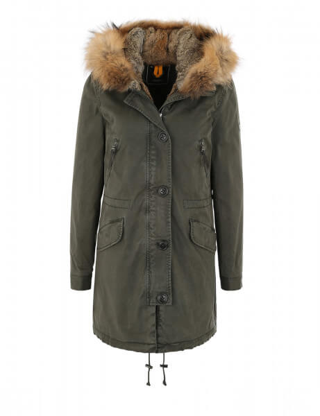 ASPEN 515 • Echtfell Parka • Night Green