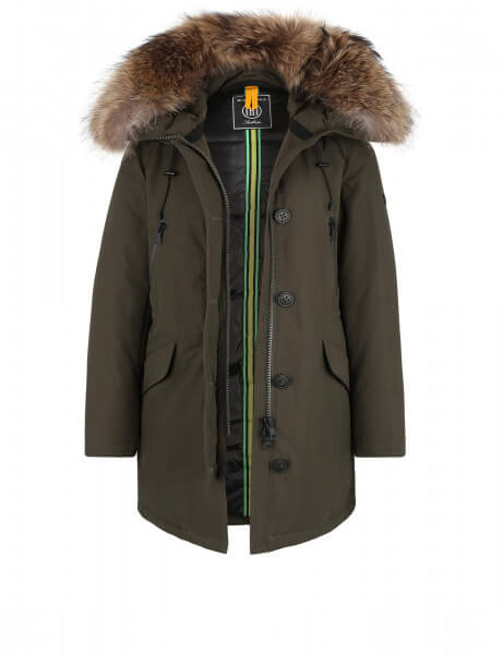 POLAR 515 • Echtfell Parka • Night Green