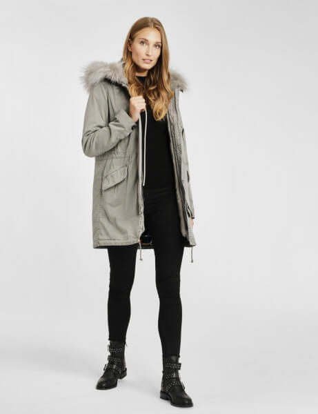 ASPEN LTD 515 • Echtfell Winterparka • Light Grey DTM