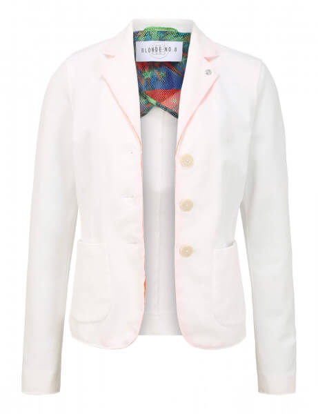 CANNES PIQUET • Blazer • White / Flash Orange