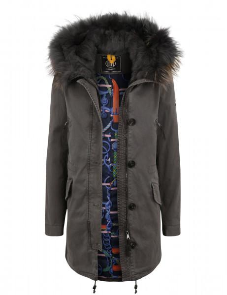ASPEN LTD 515 • Echtfell Winterparka • Frost Grey DTM