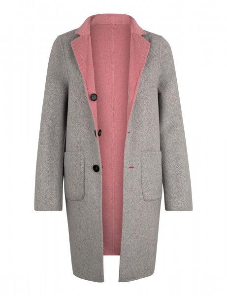 LEON W • Wendemantel • Rosé Pink / Light Grey