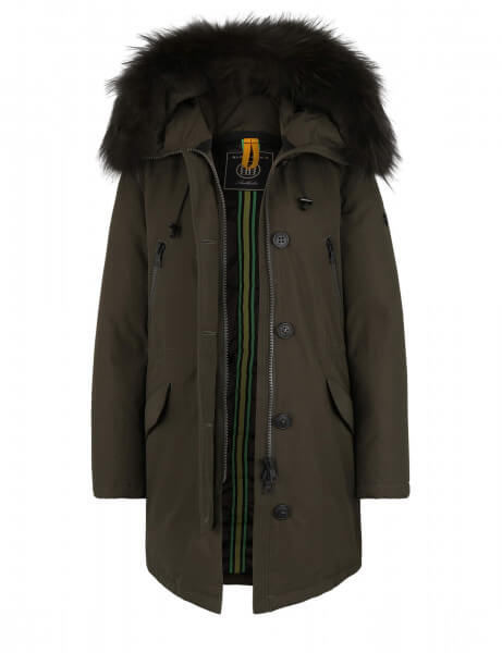 POLAR 515 • Echtfell Daunenparka • Night Green DTM