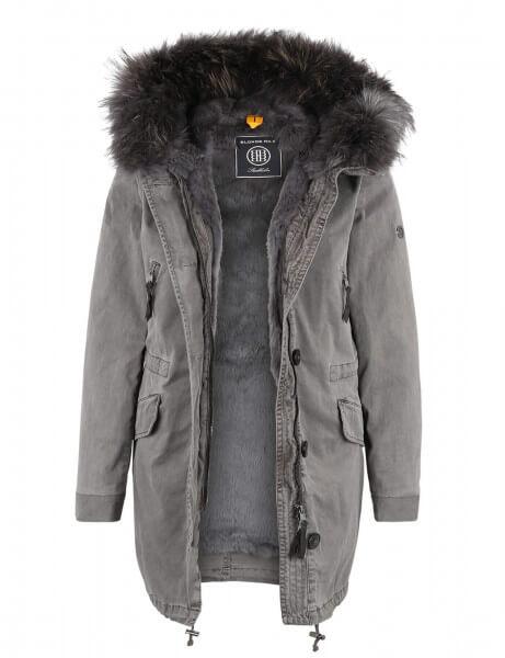 ASPEN 415 • Vollfell Parka • Frost Grey DTM