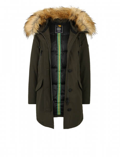 POLAR 316 • Kunstfell Parka • Night Green