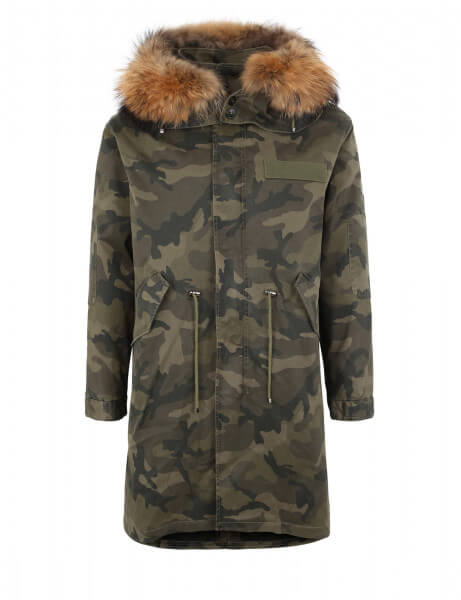 blonde no 8 herren echtfell parka montana camo 515 camo. Black Bedroom Furniture Sets. Home Design Ideas