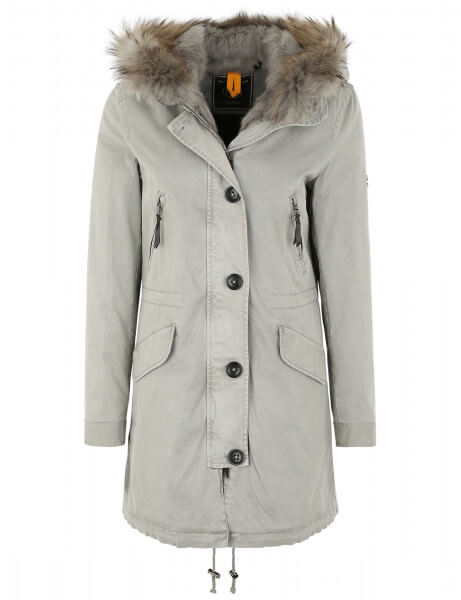 Blonde No.8 Damen Echtfell Parka Aspen 515 LTD Stone Grey
