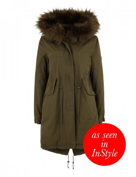 Blonde No.8 Damen Kunstfell Parka San Marino 316 New Kaki Green