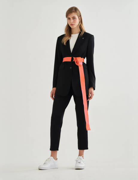DRAP BELT • Blazer • Black
